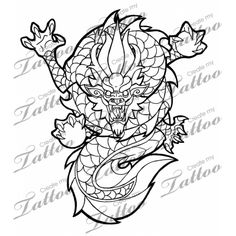 Marketplace Tattoo Oriental Dragon #1345 | CreateMyTattoo.com