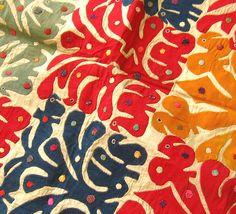 Antique Folk Art Applique Textile from Gujarat, India. Love it!