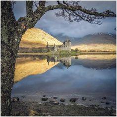 Kilchurn Castle on Loch Awe shore