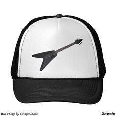 84b81067025e2 Boné com um estampa guitarra Flying-V que dá um visual bem rock e de  atitude.