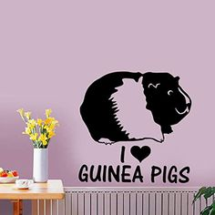 guinea pig love vinyl decal stickers multi car window glass ceramic art craft