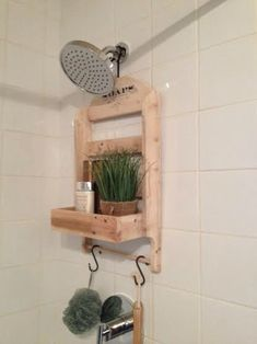shower caddy made to order recycled pallet wood rustic style shower storage