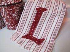 Christmas idea!  Personalized Kitchen towel @Loosethreds.etsy.com