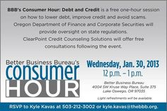 BBB's Consumer Hour: Debt and Credit - BBB News Center