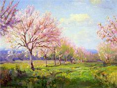 Peach Orchard on Mavericks Farm, Robert Julian Onderdonk, 1915