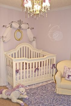 European Toile and Lavender Nursery  from Love, Laughter & Decor