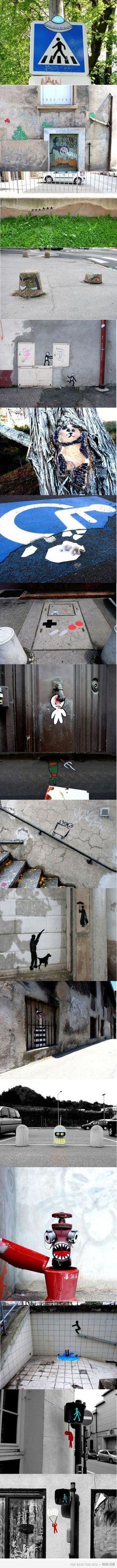 alien street art ~This is so cool!