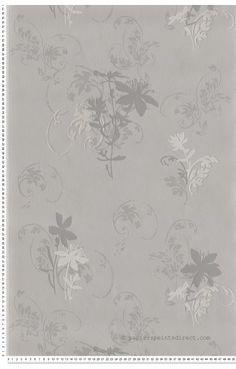 Silhouette taupe - papier peint AS Création
