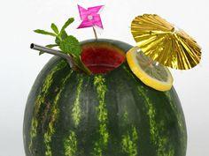 Watermelon Tiki Drinks recipe from Food Network Kitchen via Food Network