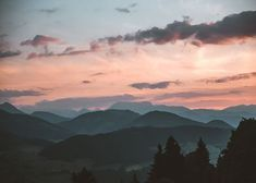 Metal Poster Sunset Mountains