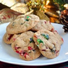 Chewy Light Fruitcake Cookies - an unspiced version of our popular dark fruitcake cookie; all the seasonal flavour of fruitcake in a chewy, crispy cookie.