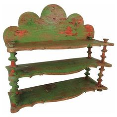 Check out this item at One Kings Lane! French Painted Spool-Turned-Shelf