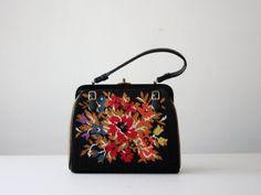 vintage floral tapestry purse by 1919vintage on Etsy, $65.00