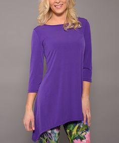 Love this Purple Sidetail Tunic - Women on #zulily! #zulilyfinds