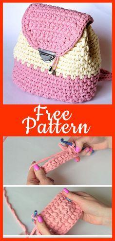 Free Crochet Backpack Tutorial Free