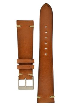 JPM Italian Vintage Leather Watch Strap in GOLD BROWN – WatchObsession