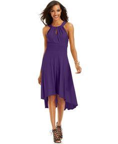Sangria High Low Halter Dress | Clothing