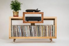 """McCobb Mid-Century Modern Furniture Feet, to - """"Super product, very sturdy""""- Shaun B. McCobb feet with metal tips complet - Record Player Speakers, Record Player Stand, Room Speakers, Vinyl Record Player, Bookshelf Speakers, Vinyl Records, Vinyl Storage, Record Storage, Modern Rustic"""