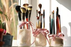Mason Jar Makeup Brush Holders - Beautynewbie