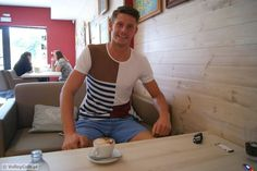 Mateusz Przybyła and a cup of #coffee! #coffeetime #interview #volleyball