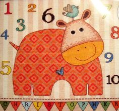 BABY HIPPO 123 Counted Cross Stitch Kit Dimensions #Dimensions…