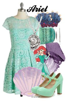 """Ariel"" by amarie104 ❤ liked on Polyvore featuring Deborah Lippmann, Urban Decay, Betsey Johnson, Talbots and Charming Kicks"