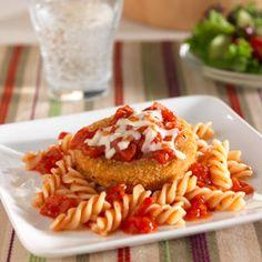 Cheesy Chicken Parmesan over Pasta