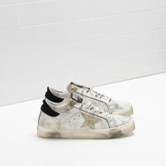 GGDB Damen - Billige Golden Goose May Sneaker Im Laminated Python Effect Leder Mit Gold Star Damen Schuhe Online
