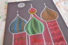 Exploring Russia: Cr Exploring Russia: Creating the Onion Domes - Creative Family Fun Projects For Kids, Art Projects, Crafts For Kids, Arts And Crafts, Little Passports, Teaching Art, Teaching Tools, Creative Teaching, Teaching Resources