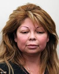 Massage therapist arrested 'for performing vampire facials without license':  California – A massage therapist who advertised 'vampire face-lifts' and other cosmetic procedures she was not licensed to perform has been arrested after a woman died following a beauty treatment.    Sandra Gonzalez, 45, of Los Angeles, California, was arrested by homicide detectives after patient Hamilet Suarez, 36, suffered a heart attack within minutes of receiving cosmetic injections