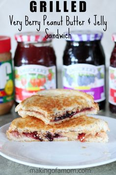 Grilled Very Berry Peanut Butter and Jelly Sandwich [ad]