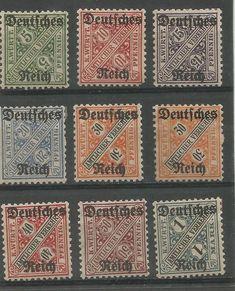 Obecnie na aukcjach #Catawiki: Cesarstwo Niemieckie 1920 - Urzędowe  Numer Michela ; 52#56 ,  57#64 ,16#22 , DR D...
