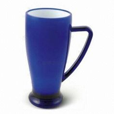 Tall Latte Mug, Made of Acrylic, Ceramic or Plastic, Various Colors are Available