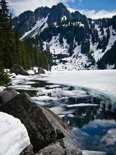 Glacier Lake #lake #washington