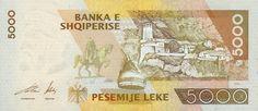 Billetes et piéces : il existe des piéces de 5,10,20,50,et 100 et des billets de 100,200,500,1 000,5 000 Lek.Penser à garder de petites ocupres pour les paiements courants