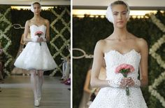 little white wed dress spring 2013 from Oscar de la Renta
