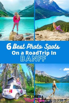 Here's the 6 best photo spots to see on a road trip in Banff National Park! Includes several maps, and crucial tips for seeing Banff when it's not super crowded! Alberta Travel, Canadian Travel, Travel Alone, Banff, Summer Travel, Solo Travel, Adventure Travel, Travel Photos, Travel Destinations