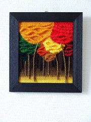 Mini Brocéliande 5   20 x 20 cm Tapisserie de haute lice Crochet, Mini, Painting, Art, Tapestries, Tapestry, Crochet Hooks, Crocheting, Painting Art