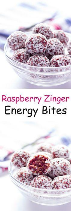 Raspberry Zinger Energy Bites