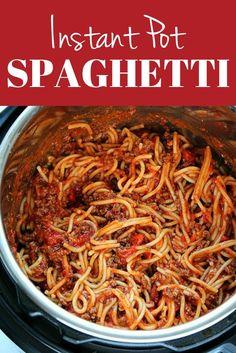 Instant Pot Spaghetti Recipe, Best Instant Pot Recipe, Instant Pot Dinner Recipes, Crock Pot Spaghetti, Instapot Spaghetti, Best Spaghetti Recipe, Vegetarian Spaghetti, Baked Spaghetti, Pressure Cooker Spaghetti