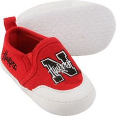 Nebraska Cornhuskers Red Baby Prewalk Shoe $14.99 http://www.fansedge.com/Nebraska-Cornhuskers-Red-Baby-Prewalk-Shoe-_422521683_PD.html?social=pinterest_pfid27-16097