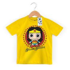 Camiseta Infantil Mulher Maravilha Kid