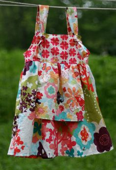 PDF Apron Knot Dress Sewing Pattern Sizes 3 by pitterpatternshop, $7.00... going to have to learn to sew :s