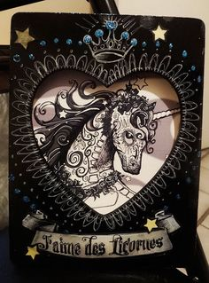 Day of the Dead Dios de los Muertos Unicorn by DanaChangingArt, $50.00