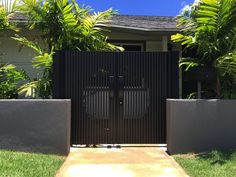 Gate Series — KunkelWorks Front Gates, Entry Gates, Front Gate Design, Door Design, Gate Designs Modern, Modern Design, Bamboo Light, Home Stairs Design, House Stairs