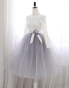 Sweet A-line Scalloped Neck Lace Tulle Sashes / Ribbons Knee-length Long Sleeve Prom Dresses Sweet Short Homecoming Dresses,A-line Scalloped Neck Lace Cocktail Dresses,Tulle Sashes / Ribbons Knee-length Graduation Dress,Long Sleeve Prom Dresses Graduation Dresses Long, Long Sleeve Homecoming Dresses, Party Dresses With Sleeves, Long Sleeve Evening Dresses, Ball Gowns Prom, Cute Dresses, Short Dresses, Dress Long, Dress Prom