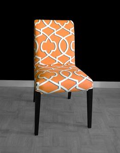 IKEA HENRIKSDAL Dining Chair Cover Morrow Orange By RockinCushions