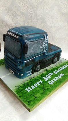 Scania lorry cake by Helen the cake lady