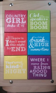 Luke Bryan inspired coasters!