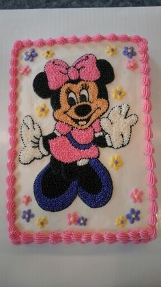 Little Girl Birthday Cakes, Happy Birthday Cake Images, Minnie Mouse Birthday Cakes, Adult Birthday Cakes, Baby Girl Birthday, Happy Birthday Cakes, Minnie Mouse Party, 2nd Birthday, Pastel Minnie Mouse Betun